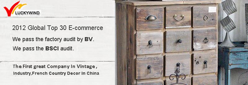 Unique Living Room Organizer Antique Wood 3-Drawers Storage Cabinet