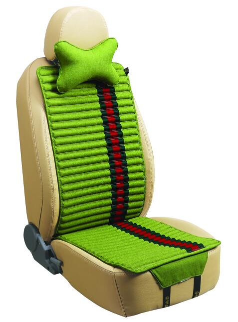 Car Seat Cover Double Sides Use Flax and Velvet-Green