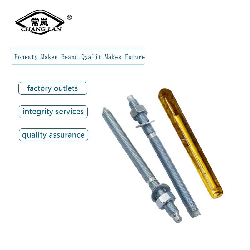 Yellow zinc plated chemical anchor bolt