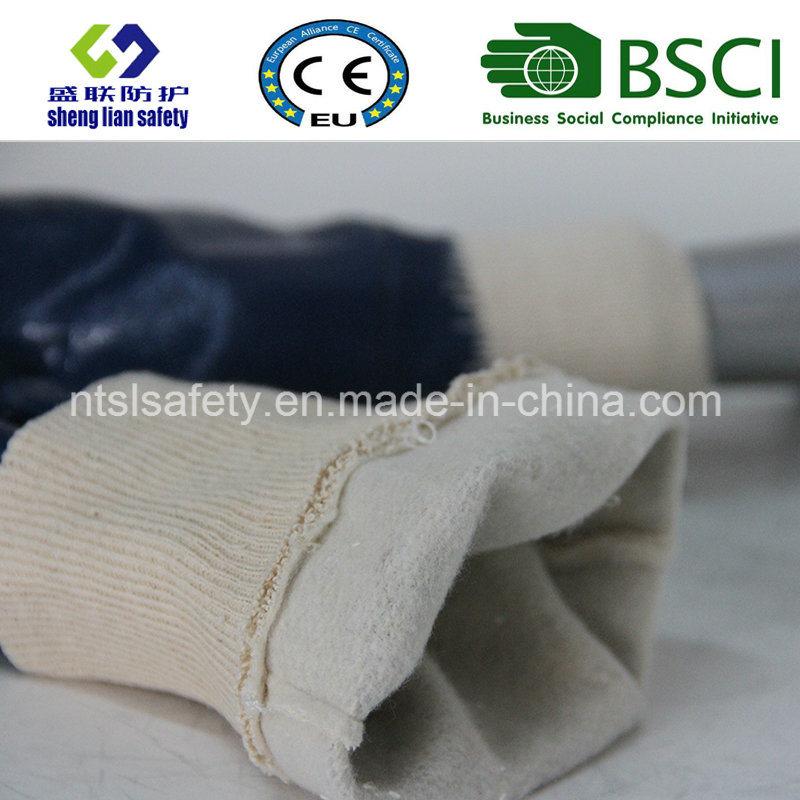 Blue Nitrile Coated Interlock Safety Glove
