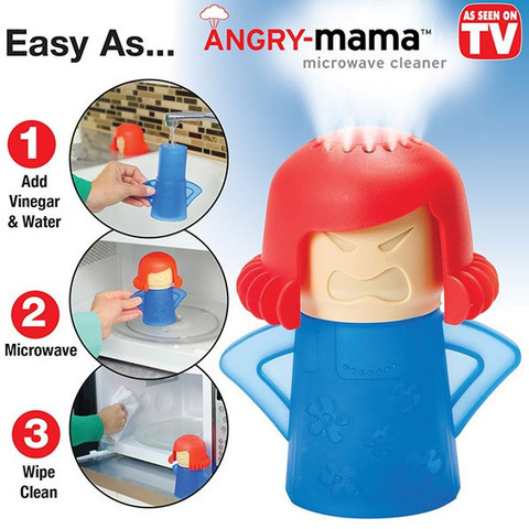 Creative Cute New Metro Angry Mama Microwave Cleaner Kitchen Cleaning Tools