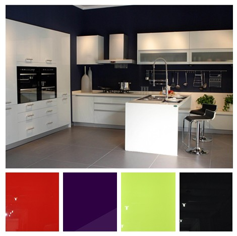 High Glossy UV Kitchen Cabinet Sets, Modular Kitchen Cabinet