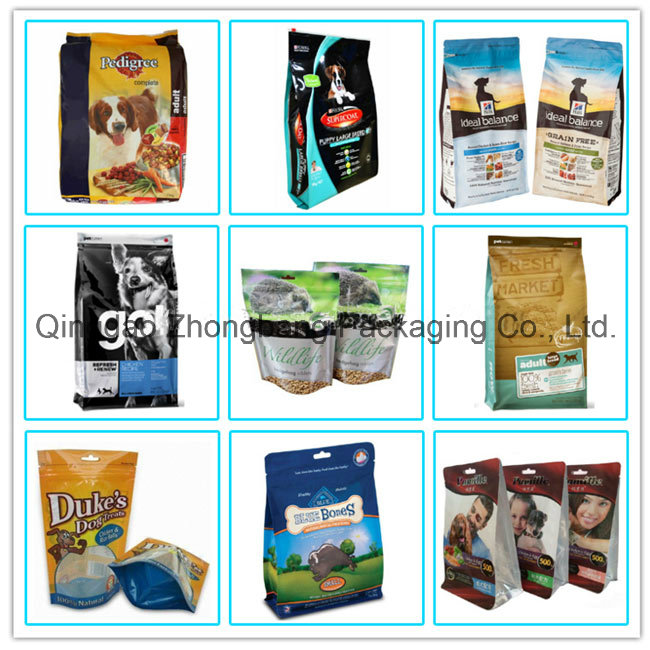 Plastic Aluminum Foil Food Packaging with Zipper for Pet Dog Food Packaging