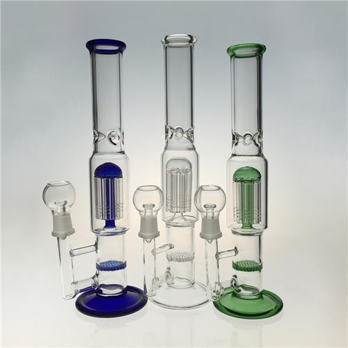 8 Arms Honeycomb Perc Hookah Glass Water Pipes for Smoking (ES-GB-396)