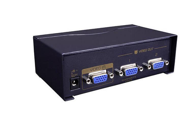 250MHz 2 Ports VGA Splitter