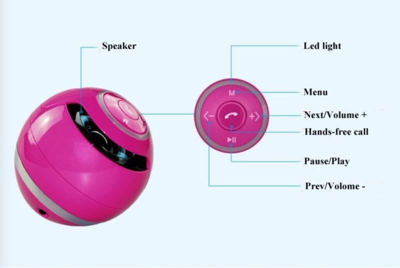 Promotion Gift White Mini Ball Bluetooth Speaker