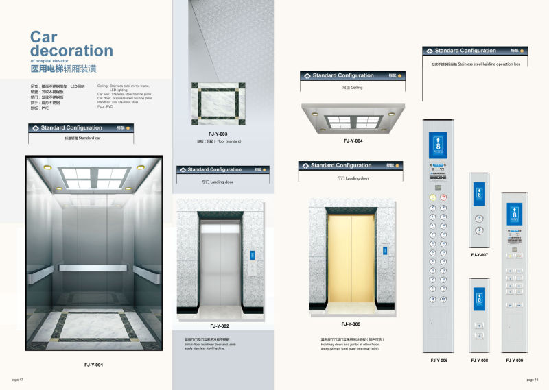 Shandong FUJI Hospital Elevator with High Quality