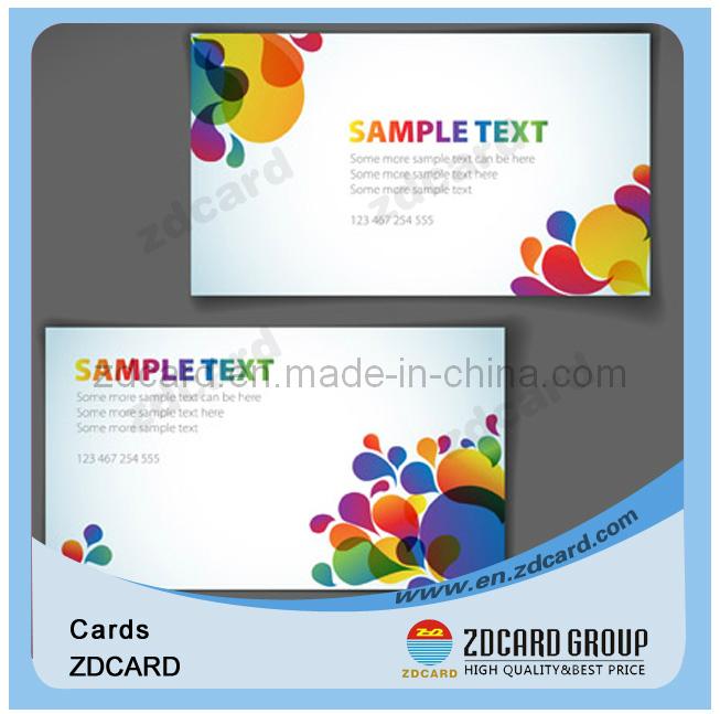 Customized Plastic Rewritable Visual Greeting Card