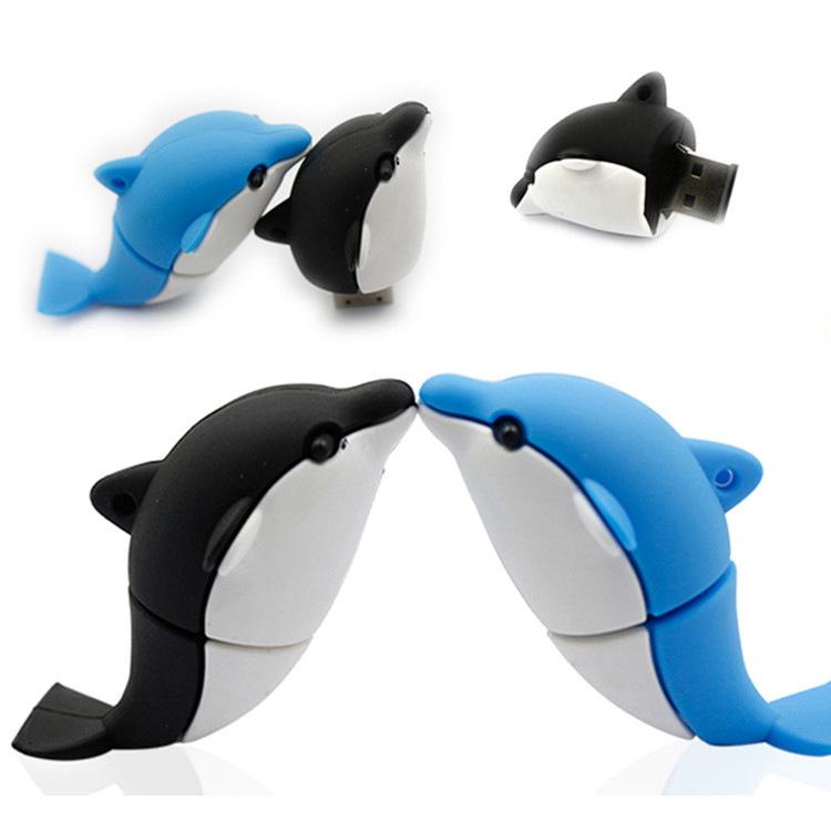 Dolphin PVC USB Flash Drive Customized