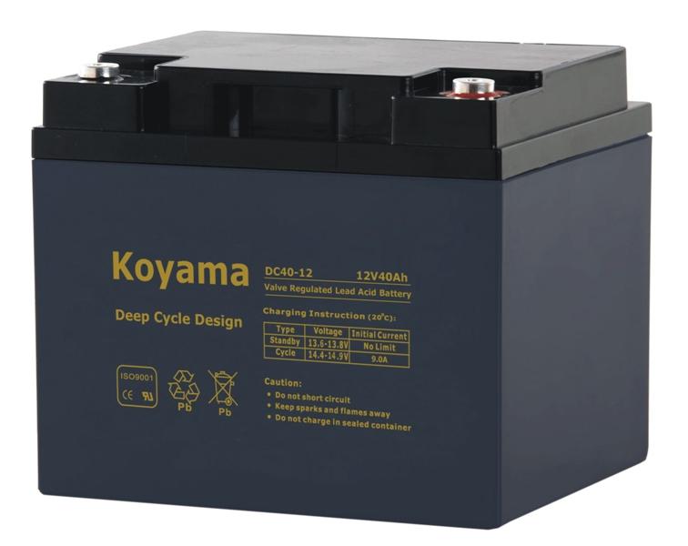 12V 40ah Deep Cycle AGM Battery for Emergency Lighting