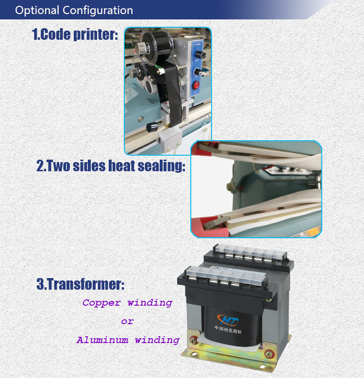 Manual Foot Pedal Sealing Machine Direct Heat Sealer for Bags and Films with Printer and Heating Blcoks