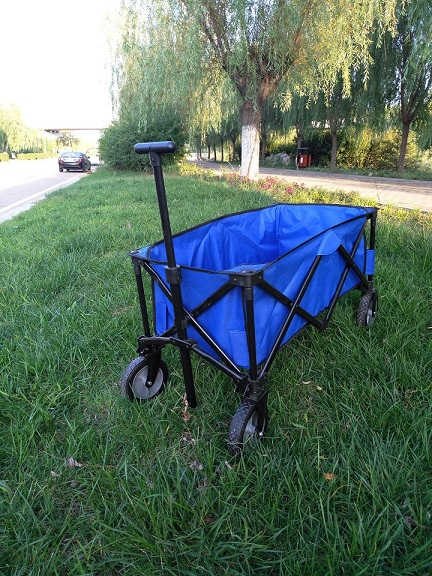 Colourful Folding Wagon for Fishing or Shopping