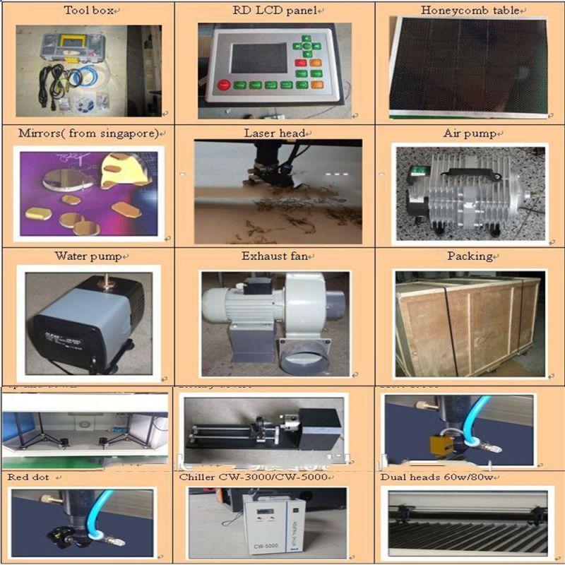 6090 Laser Cutting Machine with Ce FTA Co