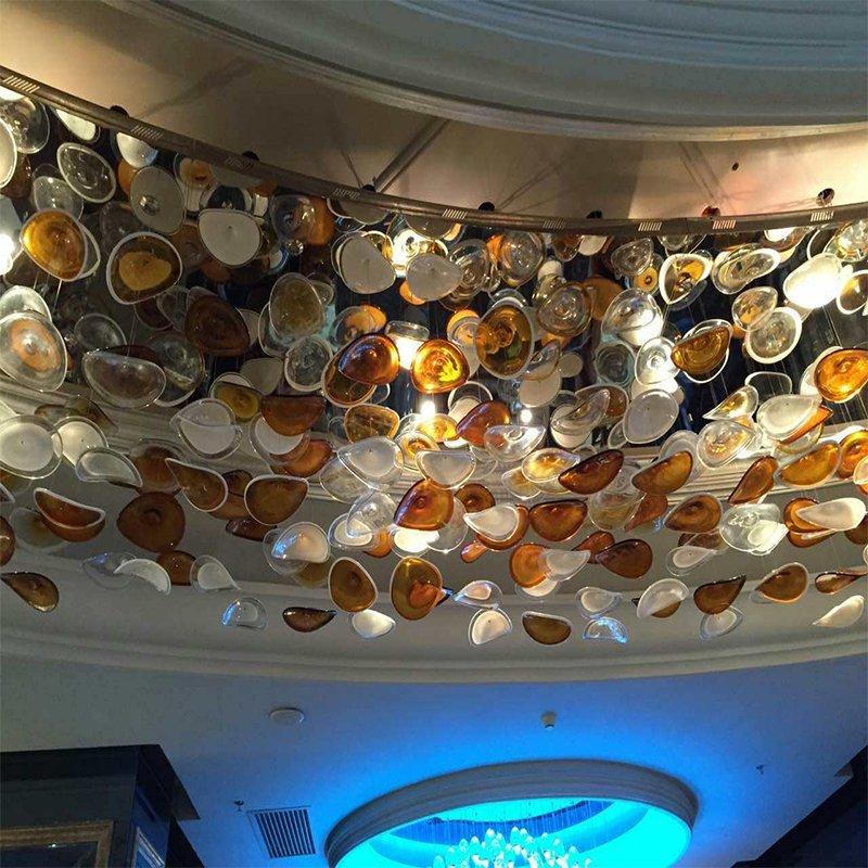Decorative Glass Hanging Broken Colour Pendant Lamp for Restaurant