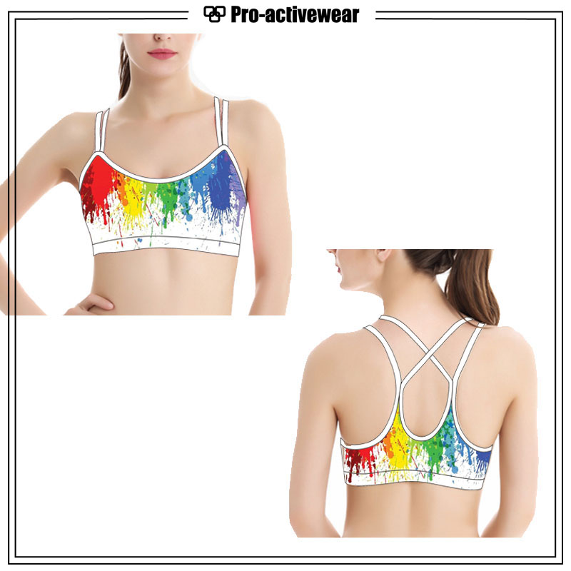 OEM Women Wholesale Custom Yoga Fitness Sports Bra