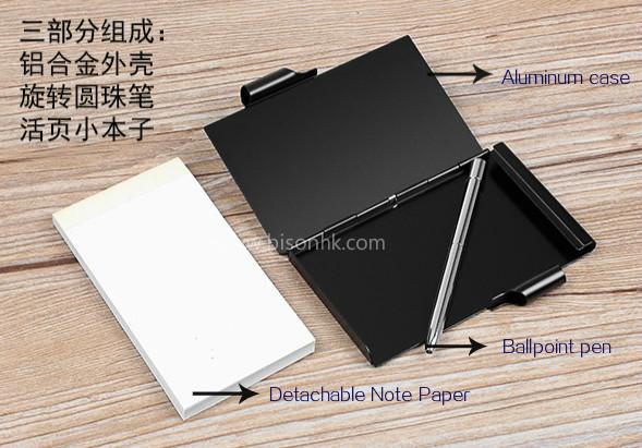 Colorful Metal Notepad Holder, Memo Pad Holder