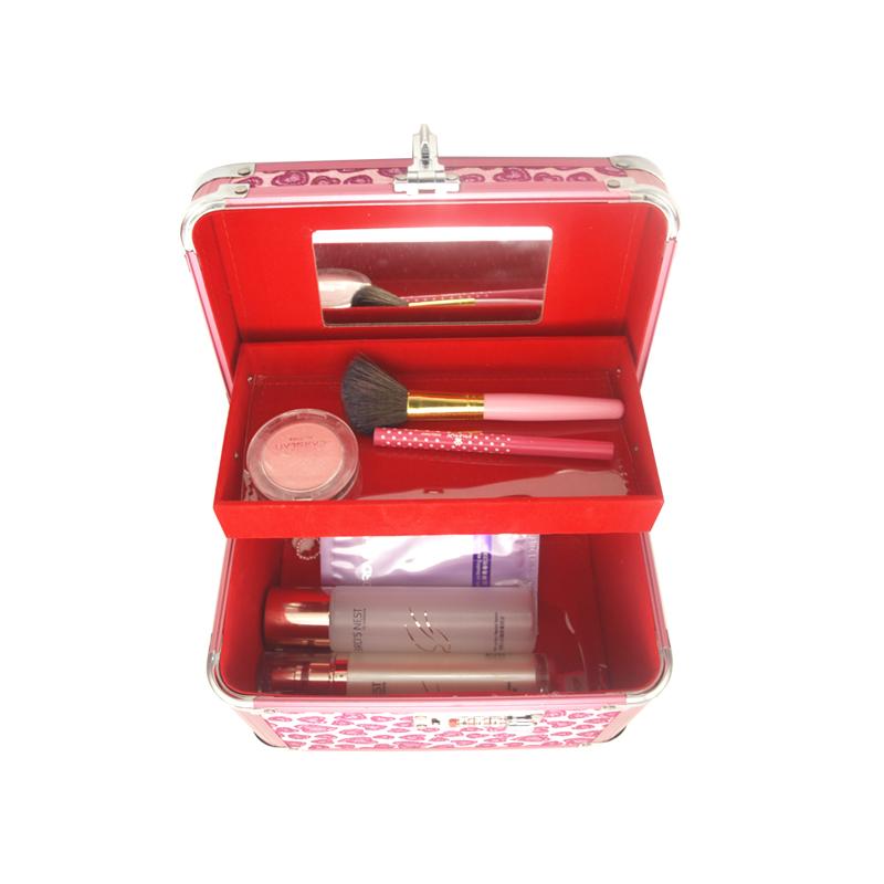 Small Aluminum Makeup Box with Combination Lock