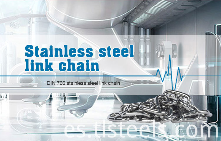 DIN763 Stainless Steel Long Link Chain, Grade80