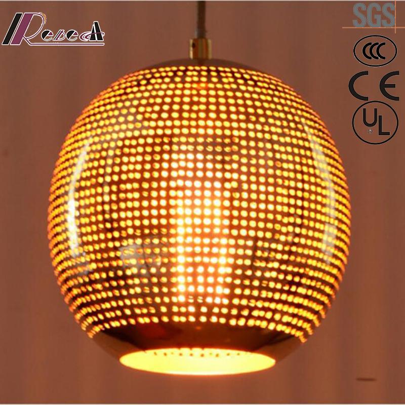 Bronze Modern Round Metal Pendant Light with Restaurant