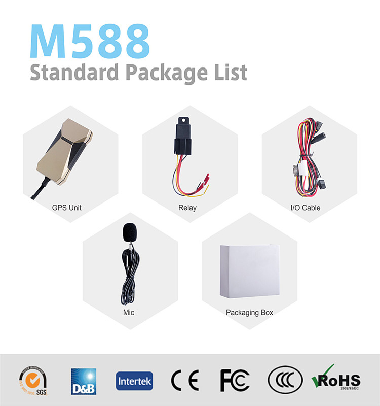 GPS Tracker Support Relay Cut off Car Engine (GPS M588)
