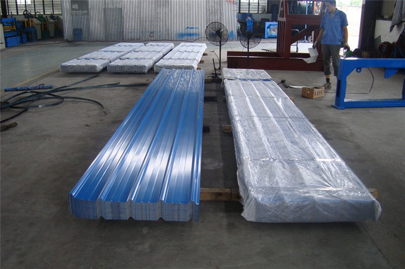 Light Blue Color Coated Trapezoidal Steel Sheet Plate