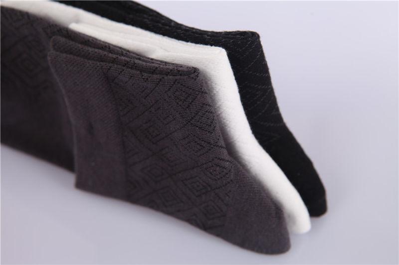Classic Diamond Design Men Dress Cotton Socks