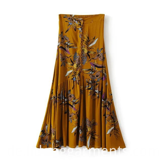 Comfortable Cotton Crepe Skirt