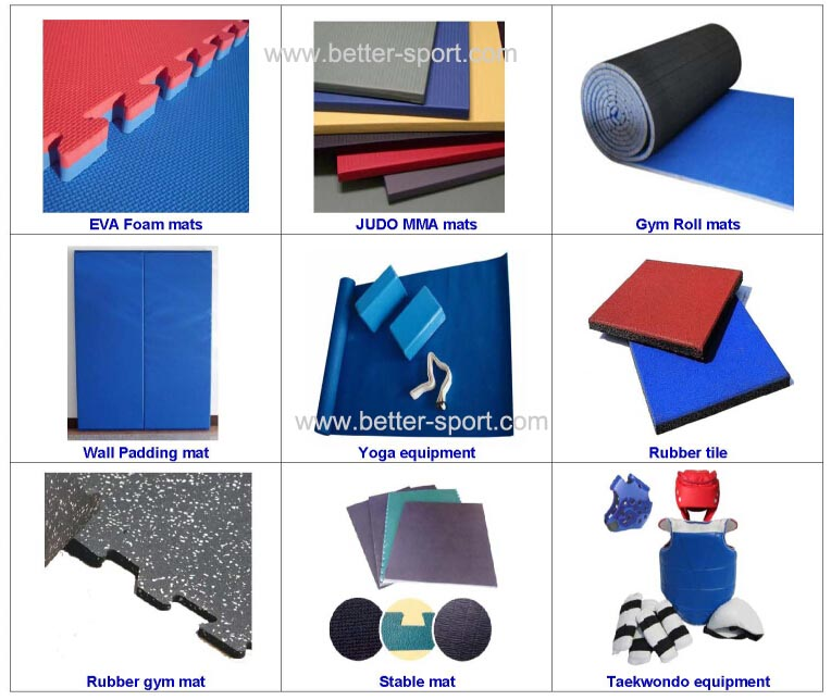 EVA Mat, Used as Taekwondo Mat, Karate Mat, Judo Mat