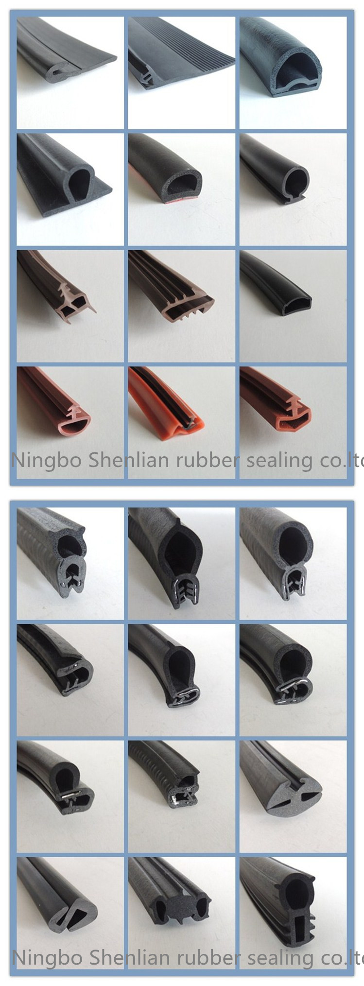 Custom Various Size Shape Extruded Silicone Seals