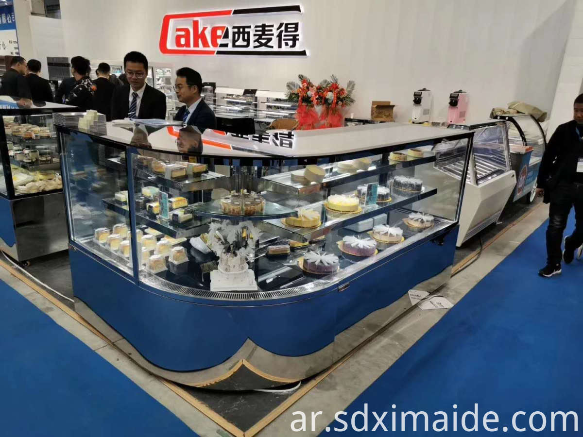 counter cake glass display showcase