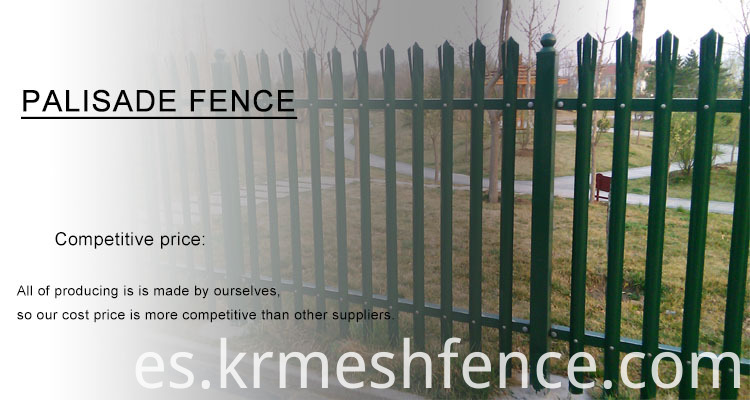 popular Steel palisade fence designs for UK market