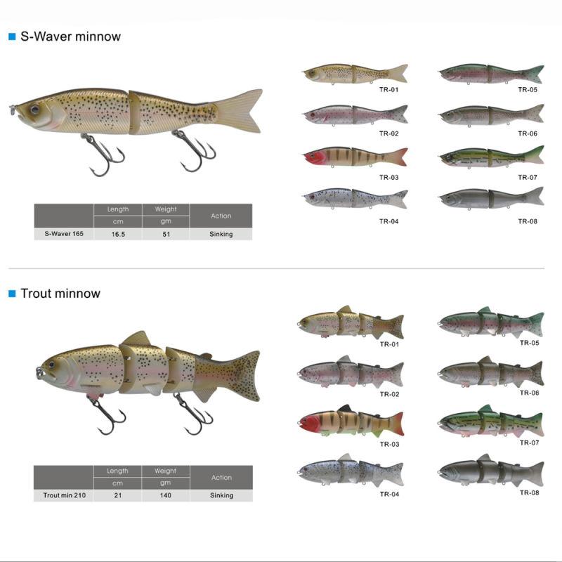Hard Plastic Multi Jointed Minnow Fishing Lure