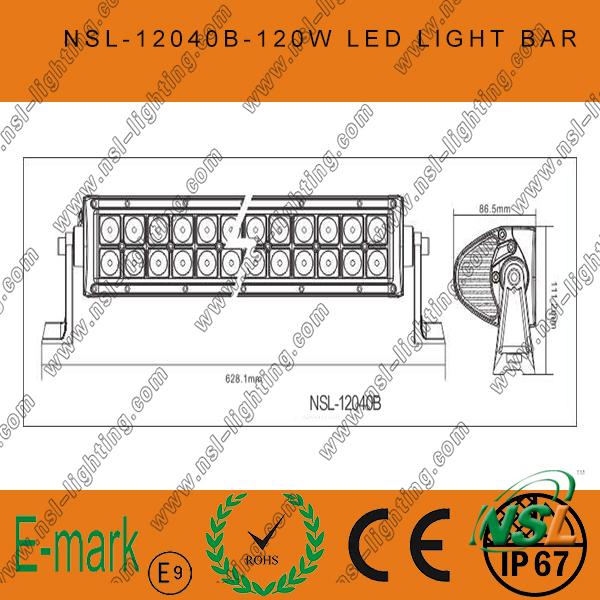 40PCS*3W LED Light Bar, 21inch 120W LED Light Bar, 3W Creee LED Light Bar for Trucks