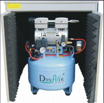 Silent Oilless Air Compressor with Air Dryer and Silent Cabinet