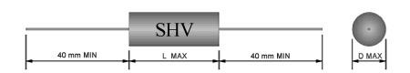 10kv - 0.001UF/0.0015UF/0.0022UF/0.0033UF/0.0047UF/0.0056UF/0.0068UF/0.0082UF Film Capacitor
