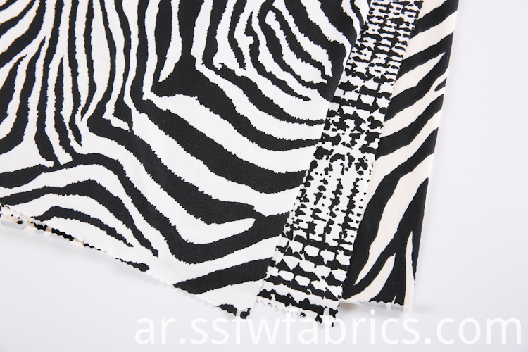 Zebra Stripes Fabric Printing Service