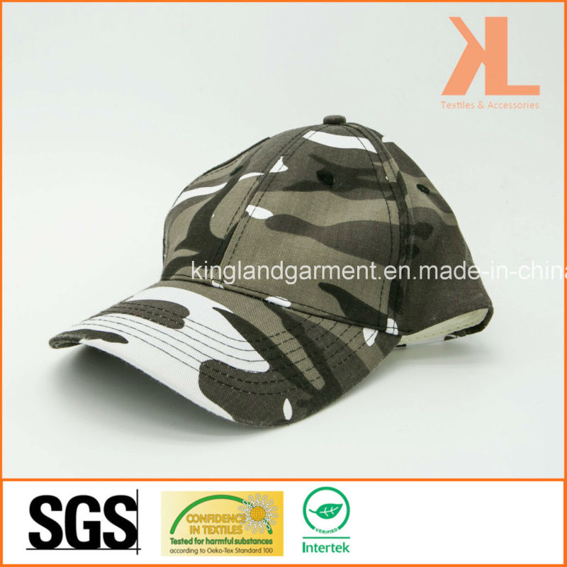 Cotton Drill Army /Military Grey Camouflage Print Baseball Cap
