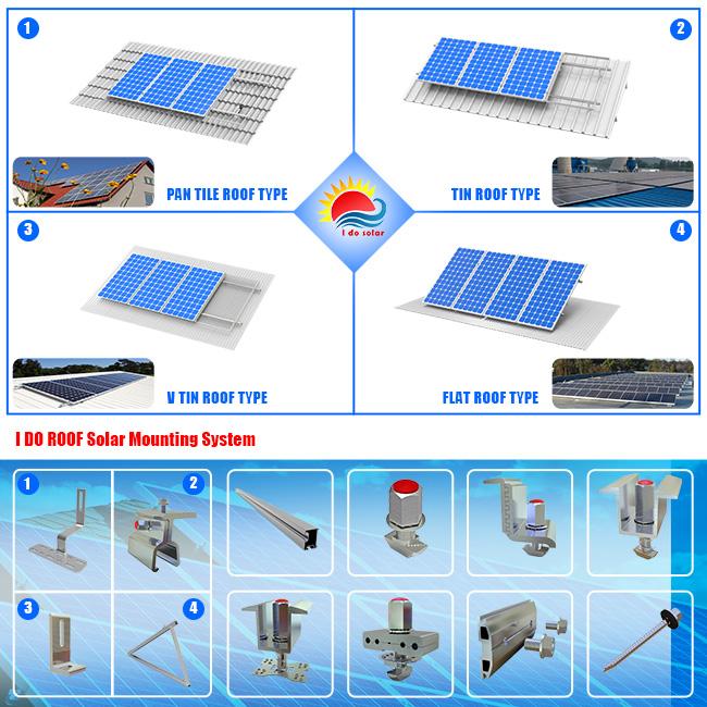New Design Folded Tripod Tilt Flat Roof Solar Mounting System (402-0003)