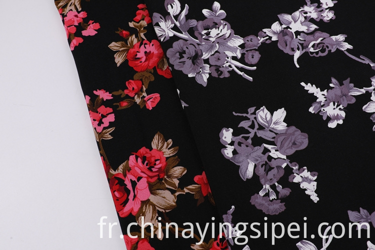 Moss Crepe Printed Fabric