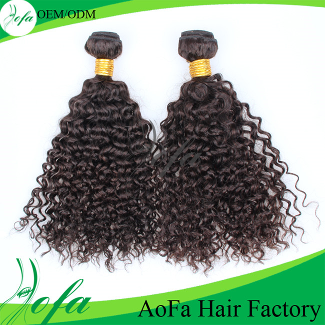 100% Unprocessed Kinky Curly Remy Hair Virgin Human Hair Weft