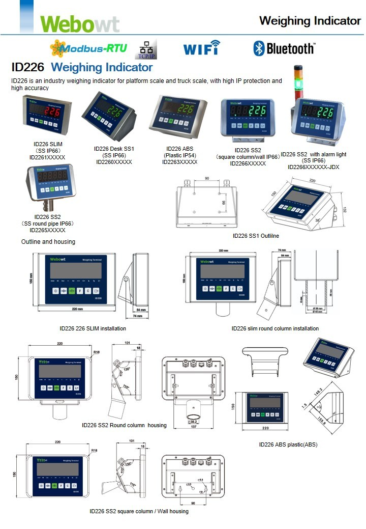 Industrial Weighing Control Indicator