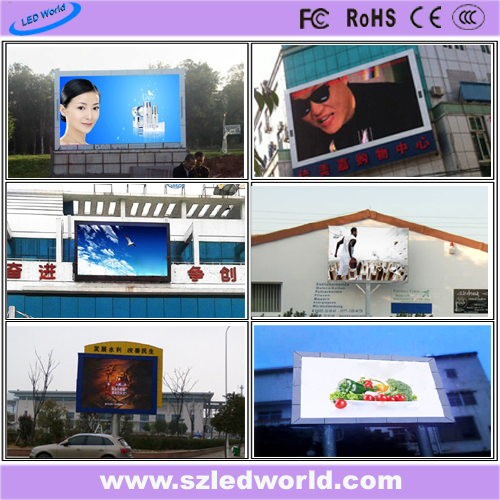 P10 SMD3535 7500CD/M2 Outdoor Full Color Fixed LED Display Screen Panel for Video Wall Advertising