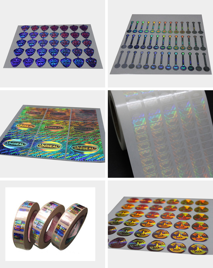 Silvery Security Anti-Fake 3D Laser Hologram Label