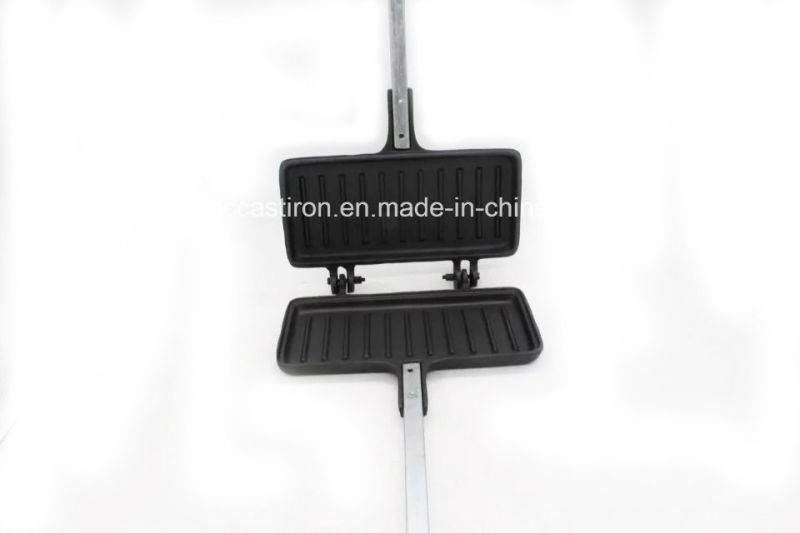 Folded Preseasoned Cast Iron Cake Mold Clip with Handle