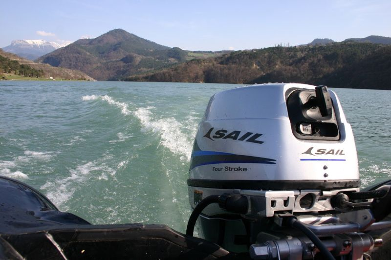Sail 4 Stroke 15HP Outboard Motor, E-Start and Remote Control