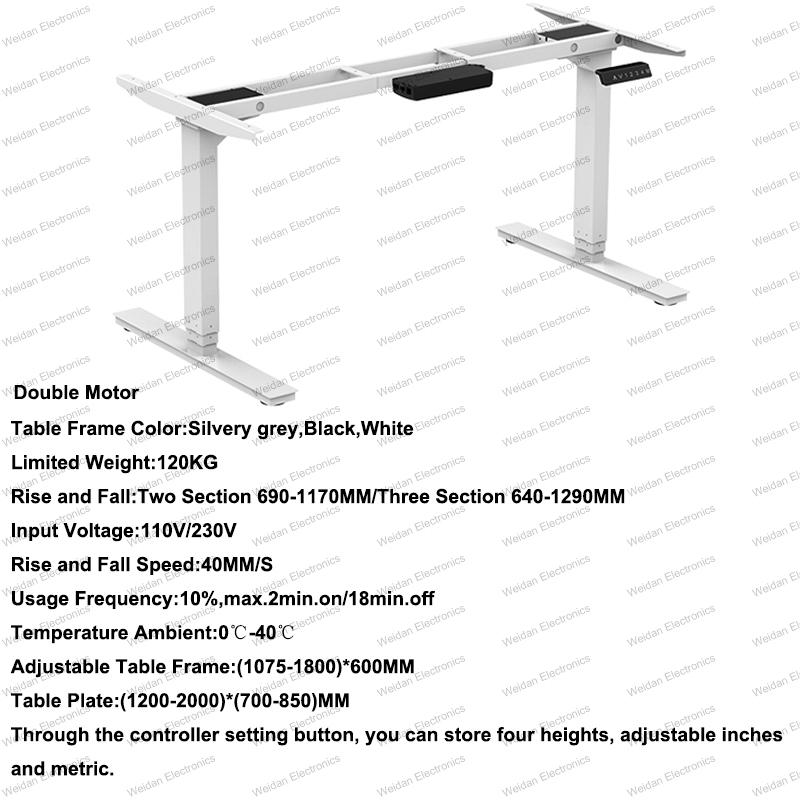 Two Motor Intelligent Adjustable Smart Desk Table