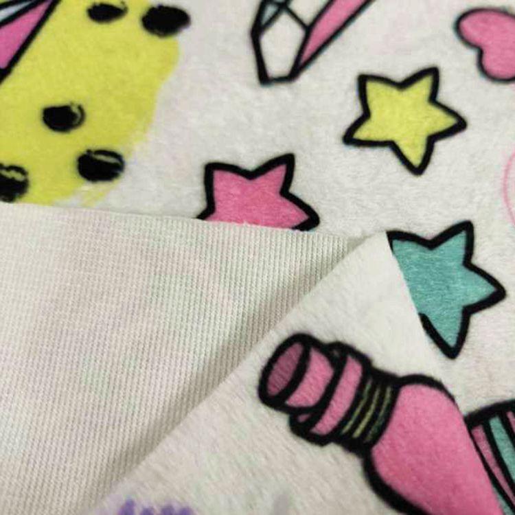 100% Polyester Mink Print Fleece Baby Blanket Fabrics