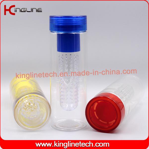 760ml BPA Free Custom Tritan Fruit Infuser bottle With tube filter inside(KL-7082)