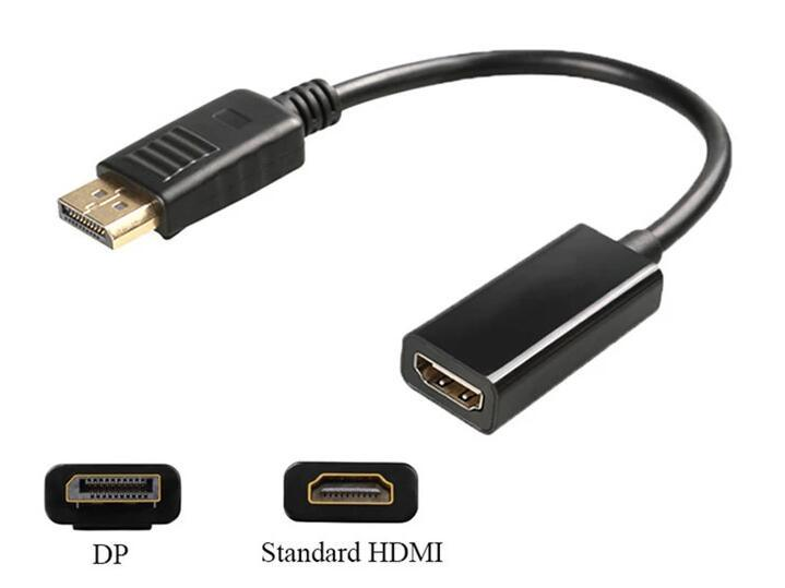 Displayport-HDMI 비디오 어댑터 Dp Male-HDMI Female 케이블