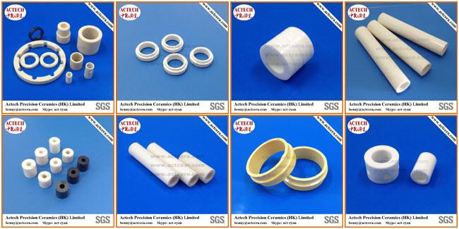 Alumina Ceramic Sleeve with Threading/Threaded Flange